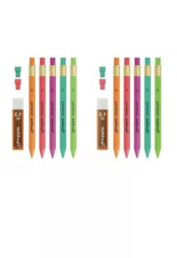 10 Papermate Mechanical Lead Pencils-1.3mm Thick #2 +Refill