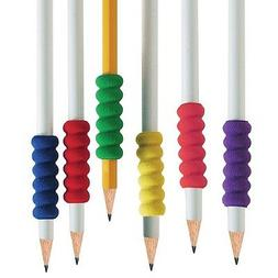 12 Ridged Foam Pencil Grips Lefty or Right Handedness Comfor