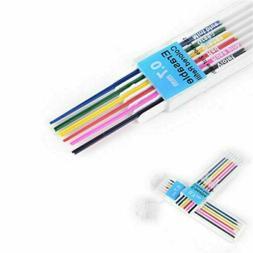 12pc/Box 0.7mm Colored Mechanical Pencil Refill Lead Erasabl