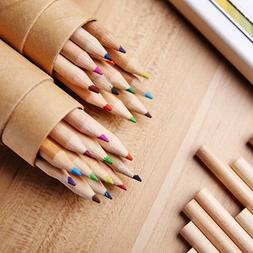 12Pcs Wooden Writing Colored Pencils 12 Colors With Sharpene