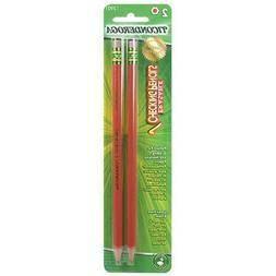 Ticonderoga 13901 2 Count Red Erasable Checking Pencils
