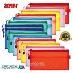 14X Pencil Pen Case Zipper Pouch Cosmetic Bag Storage Statio