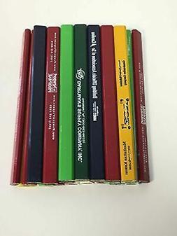 24 Lot Misprint Woodcase Carpenter Pencils, 2 Lead, Bulk Who