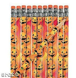Fun Express 24 Wooden Halloween Pumpkin Pencils
