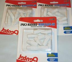 30-60 Pk LOT Pentel Hi-Polymer PENCIL ERASER CAPS Tops Non-A