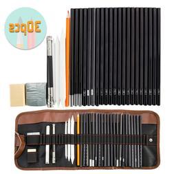 30pc professional drawing artist kit set pencils