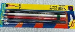 4 AVERY STABILO All pencil crayon Soft Lead White Red Blue B
