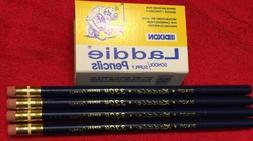 4 Each, Collectible Dixon Laddie 3304 Pencils, Large Black L