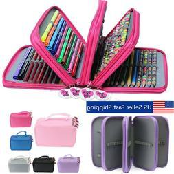 4 Layers 75 Pencil Case Bag Organizer Storage Large Capacity