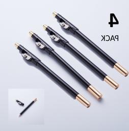 4 Pack - Speed Tracer Barber Pencil and Eyeliner + Sharpener