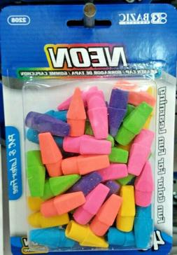 40ct eraser pencil caps charles leonard premium