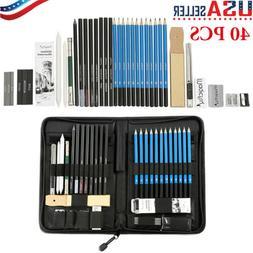41pcs Professional Drawing Artist Kit Set Pencils and Sketch
