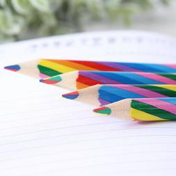 4X Rainbow Color Wooden Art Pencils Drawing Painting Sketch