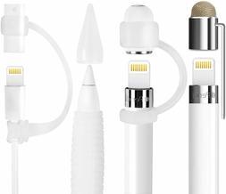 5-Piece Apple Pencil Accessories Cap Holder/Nib Cover/Lightn
