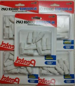 5 packs PENTEL High hi polymer Latex Free 50 ERASER CAPS Pen