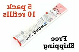 5-packs Tombow MONO Zero Eraser Refill, Round Tip  5-packs