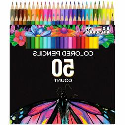50 Colored Drawing Set Color Pencil Professionals Artist Pen