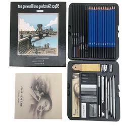 50-pcs Professional Sketching Drawing kit pastel Pencil Art