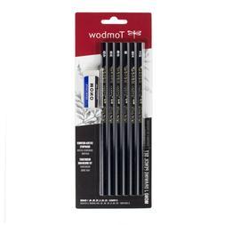 Tombow 61107 MONO J Drawing Pencil Set, 6-Pack