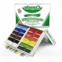 Crayola 68-8024  Colored Pencil Bulk Classpack, 12 Assorted