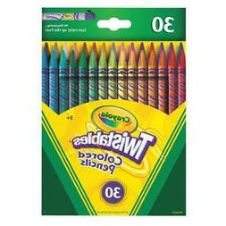 CRAYOLA 687409 Pencil, Clear, Twist, Assorted, PK30
