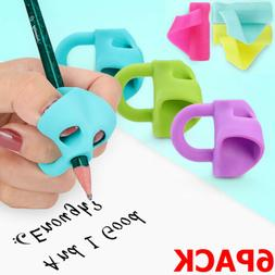 6X Correction Grip Pencil Holder Writing Aid Trainer Tool Fo