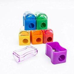 Fun Wave - 72 Pack- Kids Plastic Manual Pencil Sharpener wit