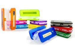 "BAZIC 8"" Assorted Color Double Deck Office Organizer Box Pen"