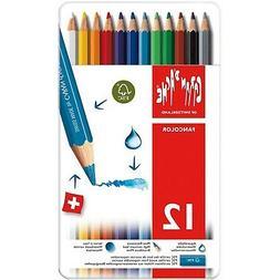 Caran d'Ache Fancolor Color Pencils, 12 Colors