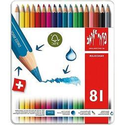 Caran d'Ache Fancolor Color Pencils, 18 Colors
