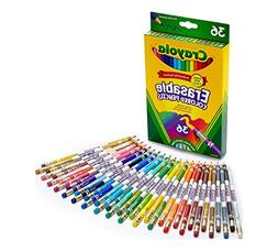 Crayola Erasable Colored Pencils, 36 Non-Toxic, Pre-Sharpene