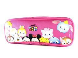 Disney Tsum Tsum Pencil Case Zippered Pouch Bag-Pink