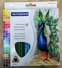 Staedtler 72 Triangular Colored Pencils Set 1270C72A6 2.9mm