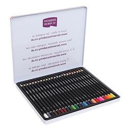 Derwent Academy Colored Pencils, 3.3mm Core, Metal Tin, 24 C