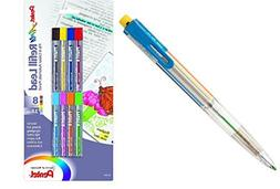 Pentel Arts 8 Color Automatic Pencil, Assorted Accent Clip C