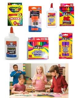 Back To School Crayons Glue Markers Pencils SELECT BRAND QTY