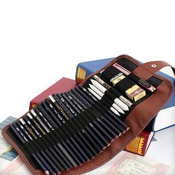 BD_24x Set Sketch Pencils case Charcoal Extender Pencil shad