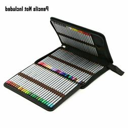 BTSKY Portable Canvas Zippered Colored Pencil Case-Super Lar