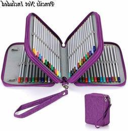 BTSKY Zippered Pencil Case--Canvas 72 Slots Handy Pencil Hol