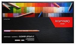 Caran D'Ache 76 Pastel Pencils + Charcoal + Graftwood Box Se