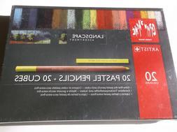 CARAN D'ACHE Landscape Pastel Pencil Cubes Sticks Blocks Set