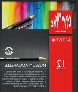 Caran d'Ache Museum Aquarelle Water-Colour Pencils | 12 Asso
