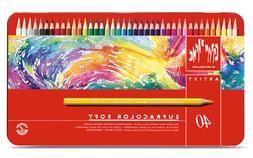 Caran D' Ache Supracolor Soft Colored Pencils 40 Count *New
