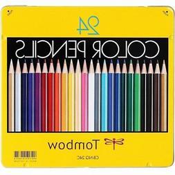 Tombow Color Pencils NQ Series 24 Colored Pencil Metal Case