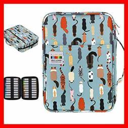 BTSKY Colored Pencil Case 220 Slots Pen Bag Organizer W Hand