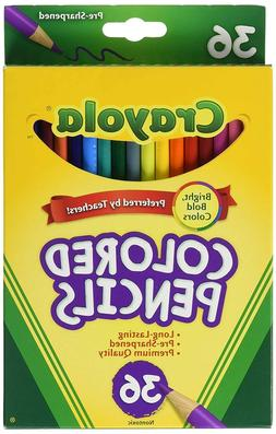 Crayola Colored Pencils, 36 Premium Quality, Long-Lasting, P