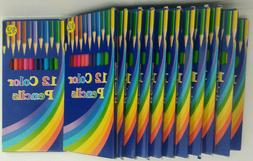 Colored Pencils - Lot of 12 Boxes - 12 Pencils In Each Box -
