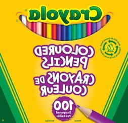 Crayola Crayola Coloured Pencils, 100 Count, Pre-sharpened,