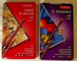 Derwent Coloursoft 12 Pencils, Metal Tin Box, 12 Count