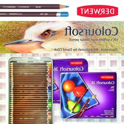Derwent Coloursoft 24 36 72 blendable artist grade soft core